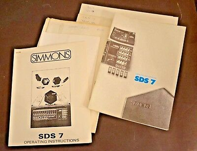 Simmons SDS7 Electronic Drum Engineer Drawings Schematics and Manuals