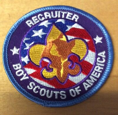 """Boy Scouts Recruiter Patch  New """"scout Stuff"""" Backing"""