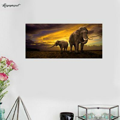 5D Diamond Painting Elephant Dawn Embroidery Perfect For Home Wall Decoration YL