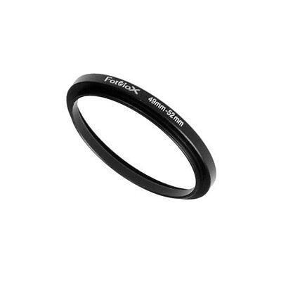 Fotodiox Metal Step Up Ring Filter Adapter, Anodized Black Aluminum 49mm-52mm 49