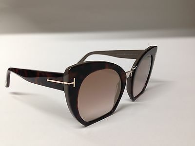 78dc3a202079b Tom Ford Samantha Sunglasses Tf553 553 05U Shiny Black Havana Gold Red  Lenses
