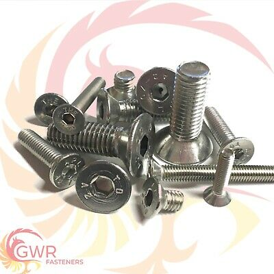 M2 M2.5 M3 M4 Metric Socket Countersunk Screws - A2 Stainless Bolt CSK Allen