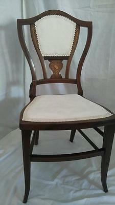 Antique Edwardian Dainty Occasional Chair with Makers Plaque has been Recovered