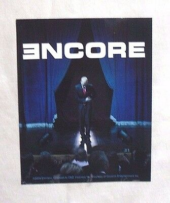 Vinyl STICKER Decal EMINEM Marshall MATHERS Encore ALBUM Cover S4167 12.5 x 10cm