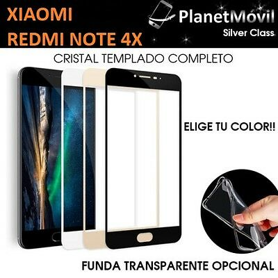 Protector Glass Glass Tempered Full 3D Xiaomi Redmi Note 4X +Funda 4 X