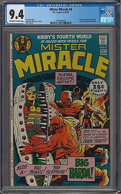 Mister Miracle #4 CGC 9.4 OW to White Pages 1st Big Barda