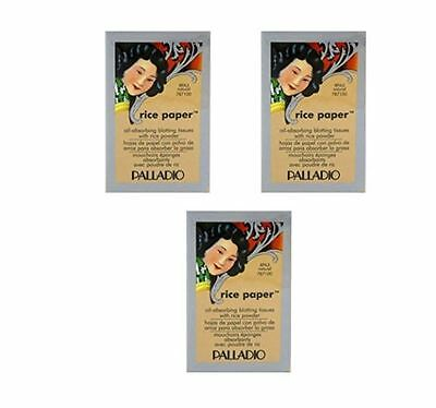 Palladio Rice Paper Blotting Oil Absorbing Tissues 3-Pack, Natural - New&Boxed!