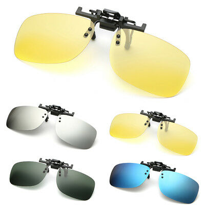 Polarized Clip On Flip Up Sunglasses Clip for Myopia Day Night Vision Driving