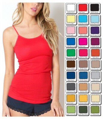 ZENANA Outfitters Tank Top Long CAMI Spaghetti Strap S/M/L/XL USA FREE Ship