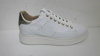 GEOX scarponcini donna sneakers N 38  pelle bianco D724BA p/e 2017