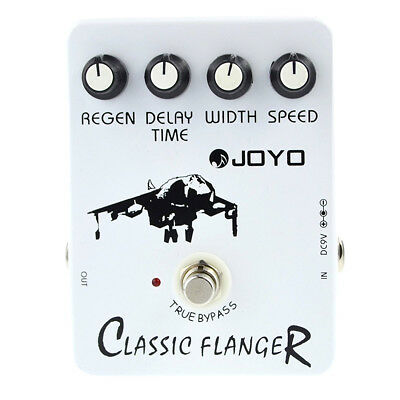 Joyo JF-07 Classic Flanger Guitar Effect Pedal with BBD simulation circuit P6D7