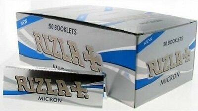 Rizla Micron Box of 50 Rolling papers *Original Full Box*