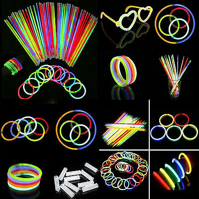 1000X Glow Sticks Favor Bracelets Neon Light Glowing Camping Party Wedding Magic