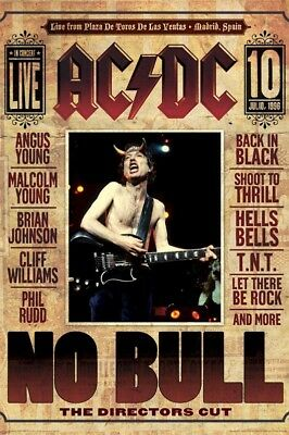 AC/DC ~ NO BULL 24x36 MUSIC POSTER AC-DC AC DC Angus Young Concert Madrid Spain