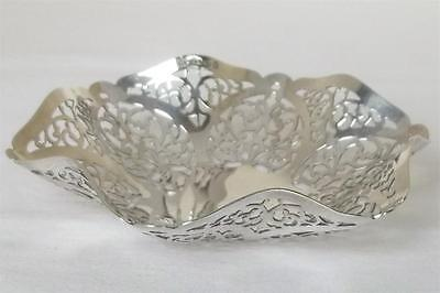 A Stunning Solid Sterling Silver Pierced Basket Dish London 1973.