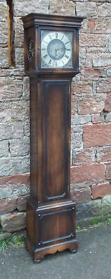 VINTAGE Grandfather LONGCASE CLOCK In CARVED Oak CASE With WESTMINSTER Chime