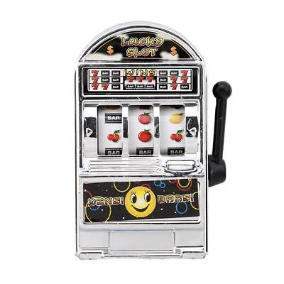 Funny Mini Casino Jackpot Toy For Kids Fruit Slot Machine Moneybox Play Game 6A