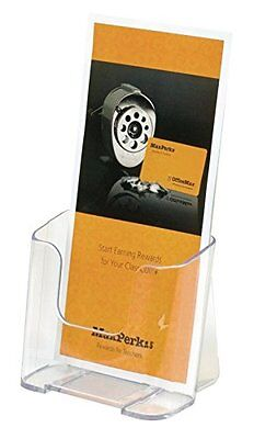 Officemax Brand, Leaflet Literature Holder, Clear, Wall Mount Or Tabletop