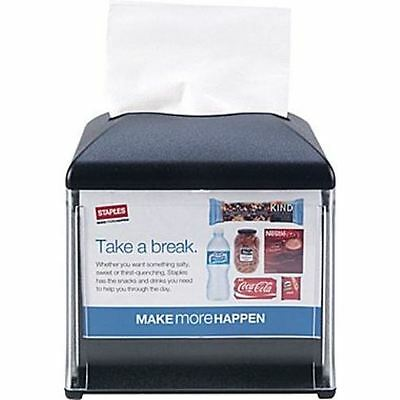 "Tork Xpressnap® Cafe Napkin Dispenser, Black, W 5.9"" x H 6.2"" x D 5.9"", 4 pack"
