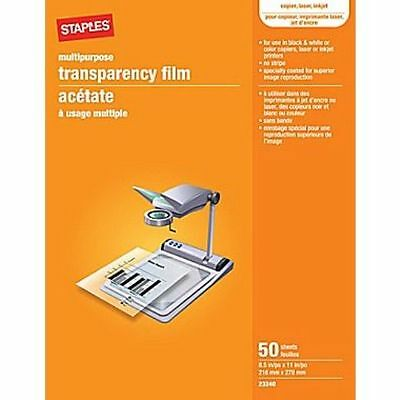 "Staples® brand Write-On Transparency Film, 100 Sheets, 8.5"" x 11"" (23246)"