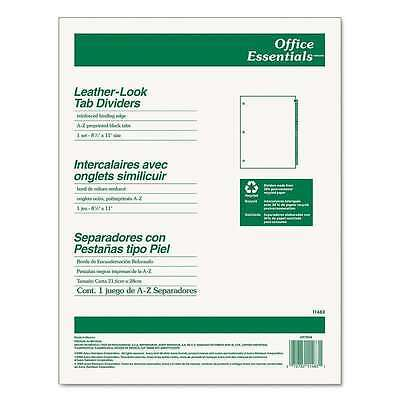 """Alphabetical Leather-look Tab Dividers, 8 1/2"""" x 11"""", A-Z Tab Set (11483)"""