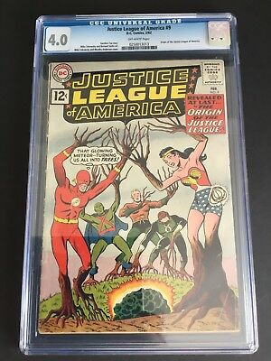 Justice League Of America #9 (1962) Cgc 4.0 Jlc Origin Dc
