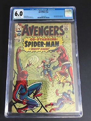 Avengers #11 (1964) Cgc 6.0 Early Spider-Man Marvel