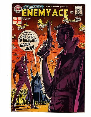 Star Spangled War Stories 141 Enemy Ace Kubert Art Dc Silver Age Fn