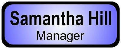 Name Badge Pin Tags Business Work Staff Logo Metal Personalised Team Conference