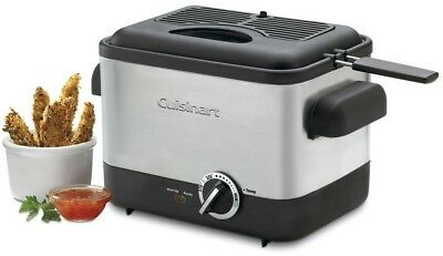 Compact Deep Fryer Cuisinart Kitchen Counter Fry Seafood Fish Chicken Shrimp