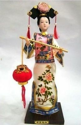 Oriental Broider Doll,Chinese Old style figurine China doll with lantern