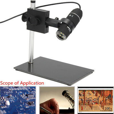1000X-1600X Adjustable USB Digital Microscope Magnifier Video Camera With Stand