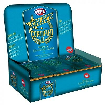 2017 Afl Select Certified Unsearched Sealed Box 36 Packs + Album Binder Express