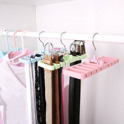Magic Closet Storage Rack Tie Belt Scarf Organizer Hanger Holder Rack Eyeful
