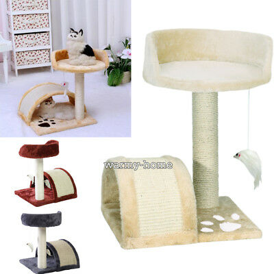 Cat Climbing Tree Sisal Scratching Post Bed with Toy Pet Kitten Puppy Activity