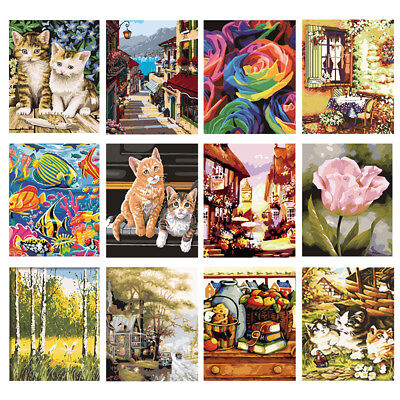 DIY Paint By Number Kit Drawing Picture On Canvas Art Digital Oil Painting Decor
