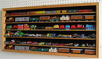 HO / RR Scale Modal Train Hot wheel Display Case Cabinet Shadow Box-HW05-OA