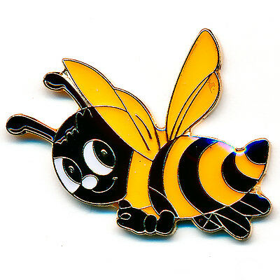 Biene Honigbiene Insekt Maja Honey Bee Badge Metall Button Pin Anstecker 0802