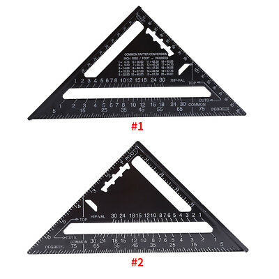 "7"" Square Carpenter Measuring Ruler Portable Tool Triangle Angle Protractor AF"