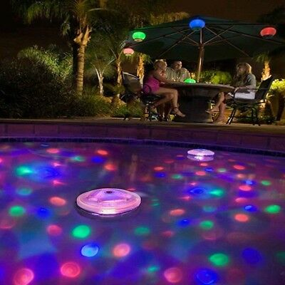 Updated Floating Underwater RGB LED Disco Light Glow Show Swimming Pool Lamp