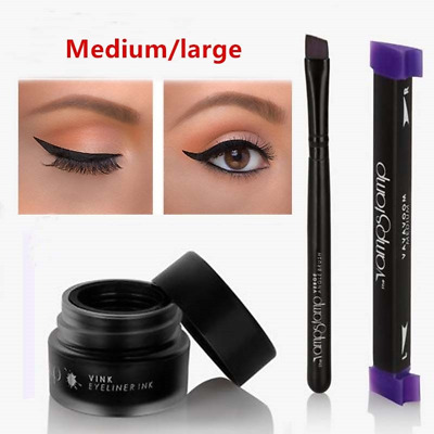 3PCS / Set Waterproof Eyeliner Stamp Long Lasting Makeup Cat Eye Stamp Wing Ink