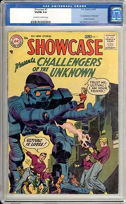 Showcase # 7  2nd app. Challengers of the Unknown !  CGC 5.0 scarce book !