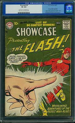 Showcase # 8  2nd Silver Age app. of the Flash !  CGC 4.0 scarce book !