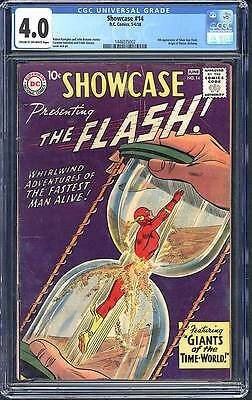 Showcase # 14  4th app. Silver Age Flash !  CGC 4.0 scarce book !