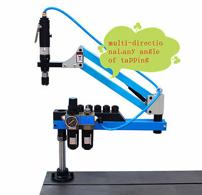 Universal Flexible Arm Pneumatic Air Tapping Machine 360° Angle 1000mm M3-M12 a