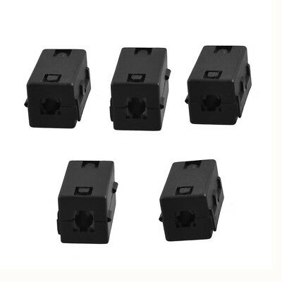 Noise Suppressor Ferrite Center Filters Black with Clip 5 Pieces M4M7
