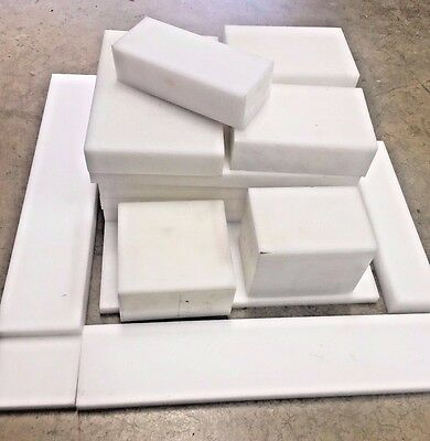 Various Acetal (POM C) Block / Sheet / Plate Offcuts, Plastic White / Black