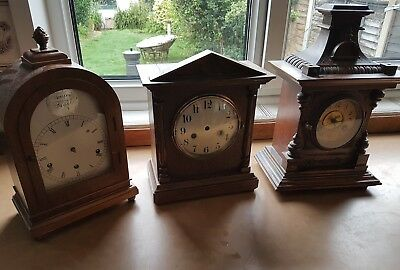 x3 Mantle Clocks and x1 Wall Case- Spares or Repair