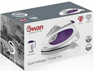 Swan Travel Steam Iron with Pouch Compact Portable Mini Mains Dual Voltage Small