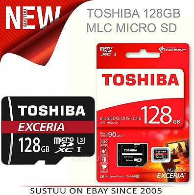 Toshiba Exceria 128GB Micro SD Memory Card with Adaptor│90MB/s│4K Compatible│New